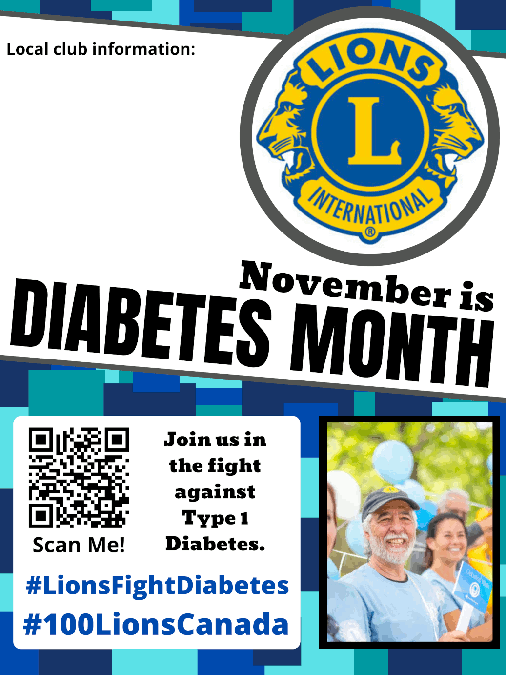 November is Diabetes Month poster